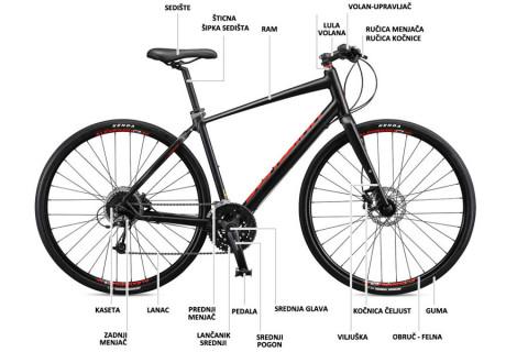 Anatomija bicikla i najvažniji delovi