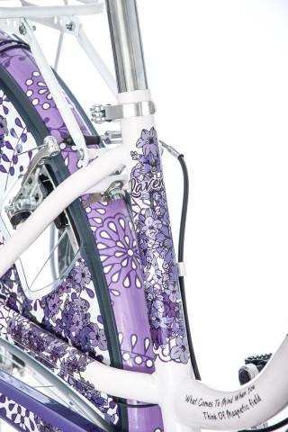 Bicikl Fashion VISITOR Lavender 28 belo ljubičasti 6brzina