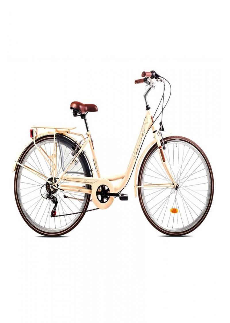 Bicikl Capriolo Diana City 28 krem braon