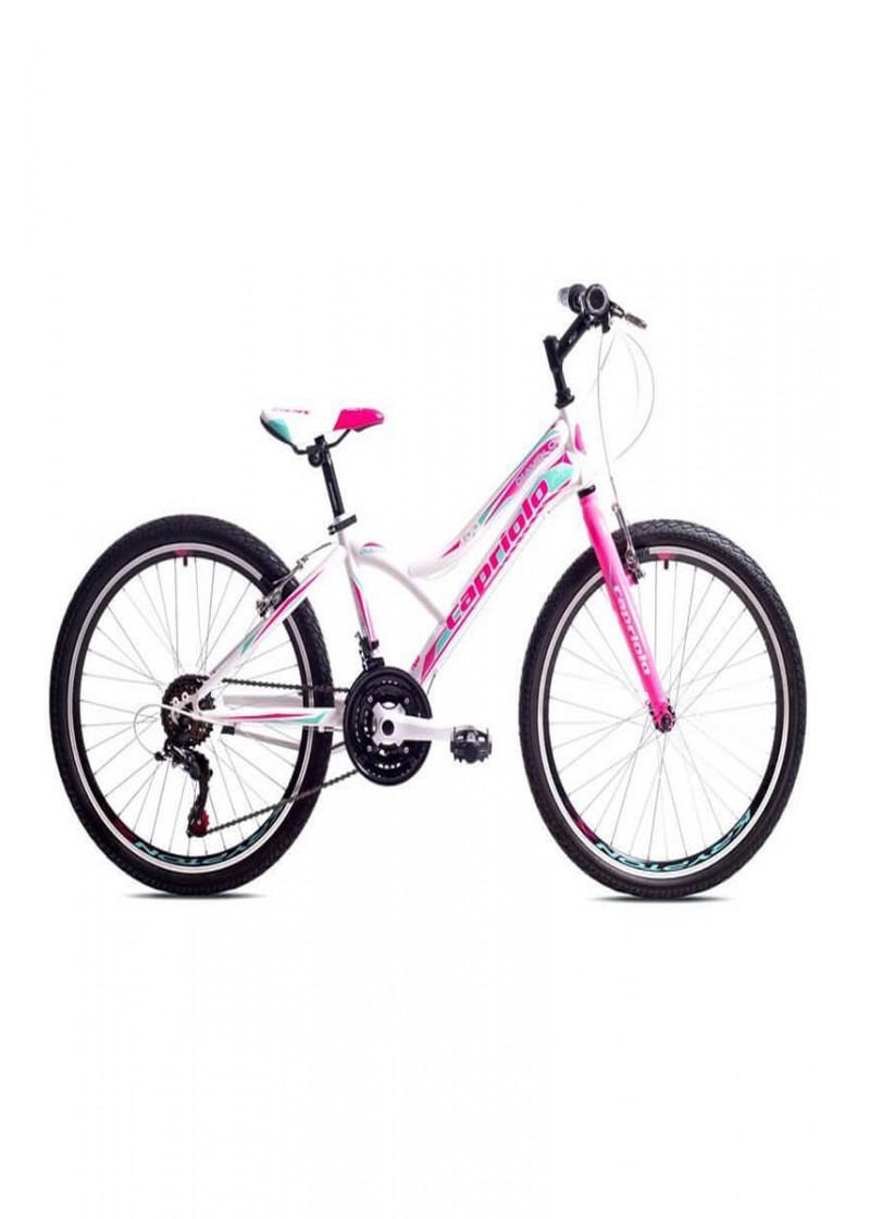 Bicikl dečiji mtb Capriolo Diavolo 400 belo-tirkiz