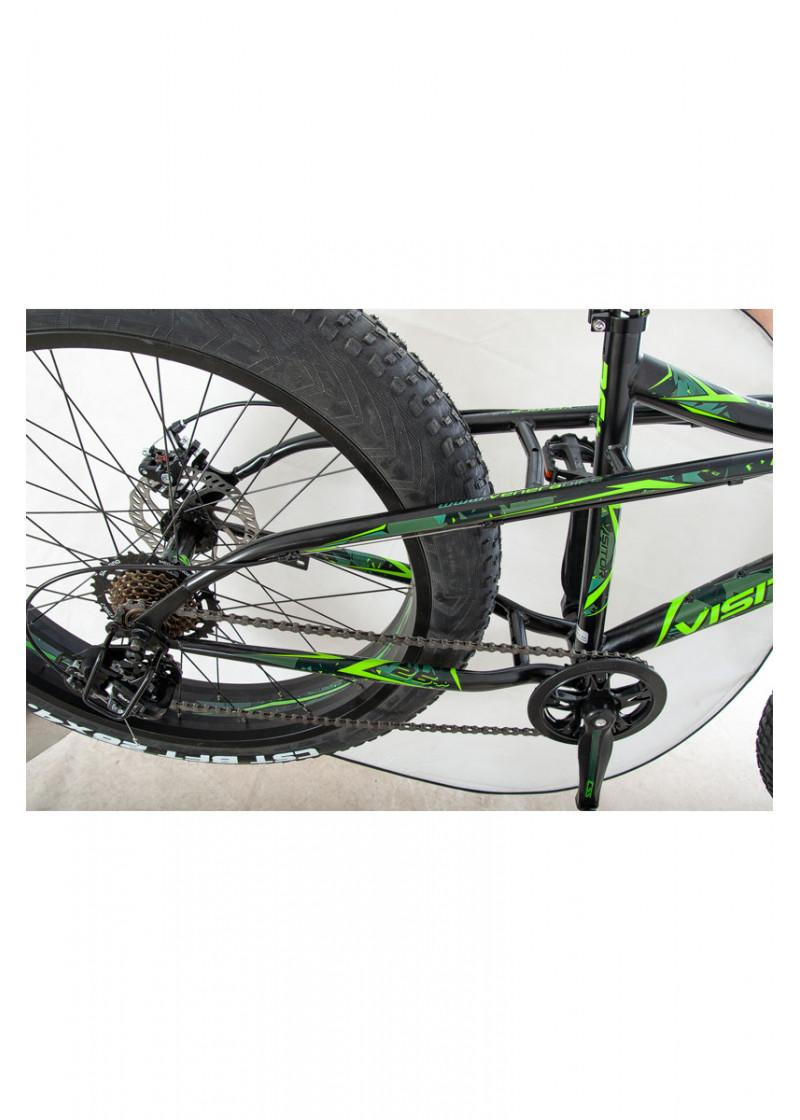 Bicikl VISITOR Fat bike crno zeleni