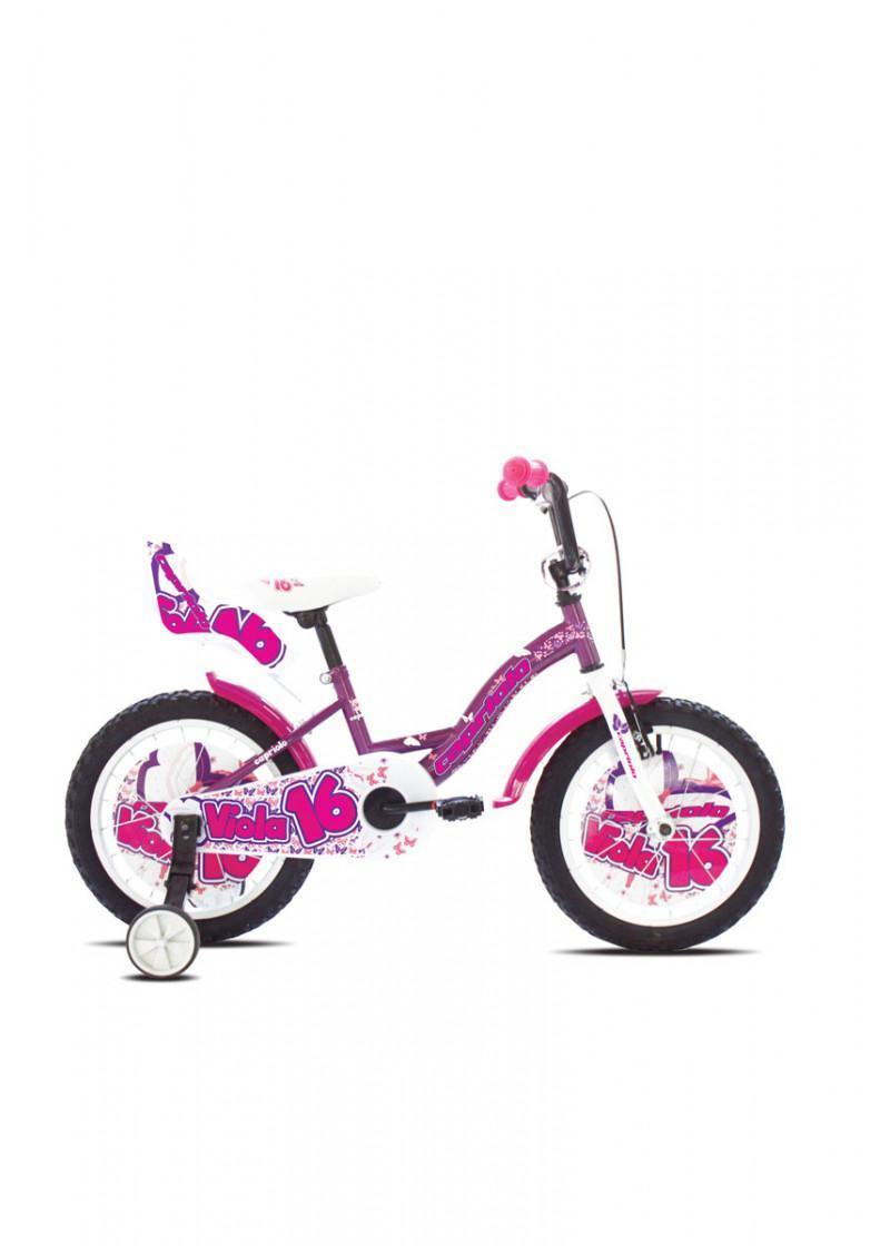 Dečiji bicikl VIOLA 16 belo rozi